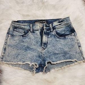 Express Acid Wash Jean Shorts Size 6